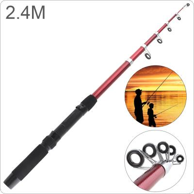 2.4m Glassfiber Telescopic Fishing Rod Sea Pole Travel Sea Rock Rods