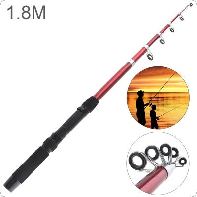 1.8m Glassfiber Telescopic Fishing Rod Sea Pole Travel Sea Rock Rods