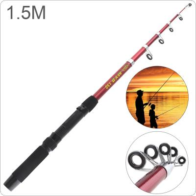 1.5m Glassfiber Telescopic Fishing Rod Sea Pole Travel Sea Rock Rods