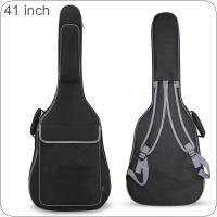 41 Inch Oxford Fabric Guitar Case Gig Bag Double Straps Padded 10mm Cotton Soft Waterproof Backpack