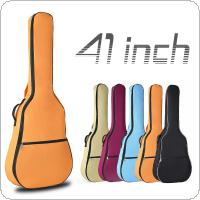 41 Inch Portable Oxford Fabric Acoustic Guitar Double Straps Padded Guitar Soft Case Gig Bag Waterproof Backpack