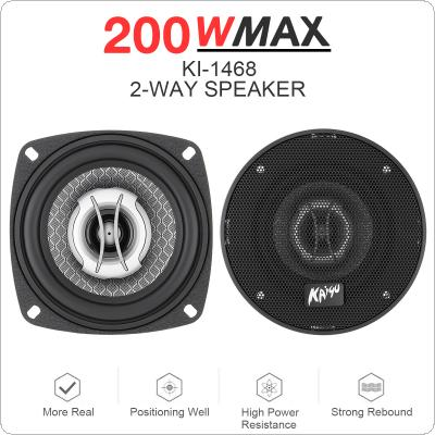 2pcs 4 Inch 200W Universal Car 2-Way Coaxial Speakers Audio Music Stereo Full Range Frequency Hifi for Auto Stereo Modified