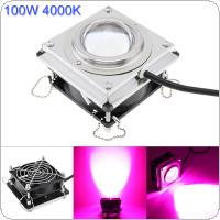 4000K 100W LED Plant Grow Light Full Spectrum with Heat Dissipation for Succulent Plants Flowers Greenhouse Hydroponics