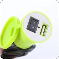 12V USB Motorcycle Socket Plug Waterproof Switch  Phone Charger Adapter