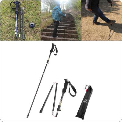 EVA Handle 3-Section Adjustable Walking Sticks Canes Hiking Poles Trekking Poles Alpenstock for Outdoor Crutches