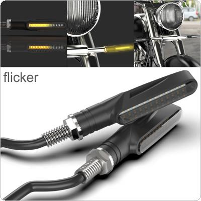 Motorcycle Turn Signals LED Light Flowing Water Blinker Flashing Indicator Bendable Tail Stop Signal