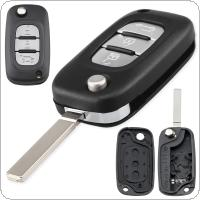 3 Buttons Car Key Fob Case Shell Replacement Flip Folding Remote Cover Fit for Renault Fluence Clio Megane Kangoo Modus