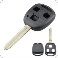 3 Buttons Car Key Fob Case Shell Replacement  Remote Cover Fit for Toyota Yaris