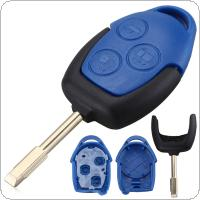 3 Buttons Car Key Fob Case Shell Replacement Remote Cover Fit for Ford Transit 2005 - 2015