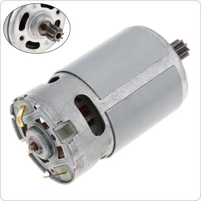 12.6V RS550 DC Motor Electric Drill Motor Nine Teeth Use for Single Speed Electric Drill