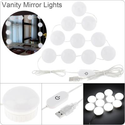 LED Vanity Mirror Lights Kit with 10pcs Dimmable Light Bulbs Lighting Fixture Strip for Makeup Dressing Table