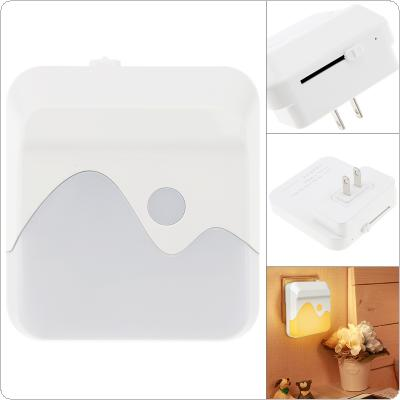 1635 Plug-in Dimmable LED Night Light with Smart Sensor Dusk to Dawn Wall Light for Bedroom Bathroom Stairs Kitchen Hallway
