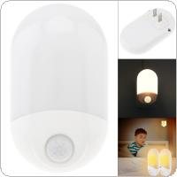 Plug-in LED Night Light with Motion Sensor PIR Human Activated Wall Light for Bedroom Bathroom Stairs Kitchen Hallway