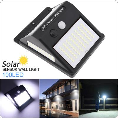 100LED Solar Light Outdoor Solar Lamp PIR Motion Sensor + CDS Night Sensor Waterproof / Solar Wall Lamp for Outdoor Yard Garden
