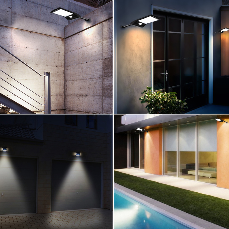 Rotating 36LED Solar Light Outdoor Lights Waterproof PIR Motion Sensor LED Solar Wall Lamp for Outdoor Yard Garden Lamps