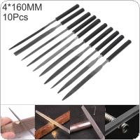 10pcs 160mm Trimming Steel File Set Semi-circular Flat Head Triangle Square File Combination