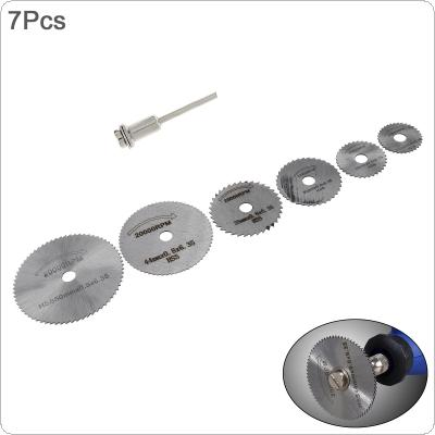 7pcs Mini Wood Saw Blade Circular Blade Jig Saw Rotary Tool for Cutter Power Tool Set Wood Cutting Discs