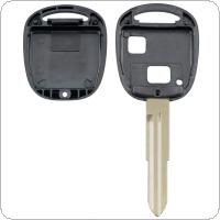 Car Key Shell Case with TOY41 Uncut Blade and Rubber Button Pad Fit for Toyota Yaris