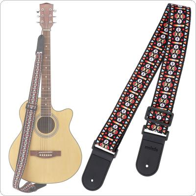 Adjustable Printing Guitar Strap with Geometric Patterns for Acoustic Electric Bass Guitar