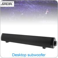 SADA V-105 Bluetooth Multi-media Soundbars Speaker Mobile Phone Computer Universal Mini Strip Speaker with 2 Speakers Units and Stereo Surround Sound  for House