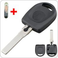 Car Remote Key Shell Case Transponder Key Case with ID48 chip Fit for VW Polo Golf / SEAT Ibiza Leon / SKODA Octavia