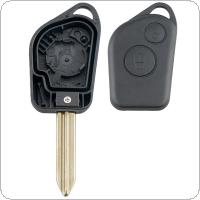 2 Buttons Uncut Blade Car Remote Key Shell Case Fit for Citroen Picasso / Xsara