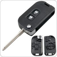 2 Buttons Flip Folding Modified Remote Key Shell Car Case Fob Cover Fit for Nissan Qashqai