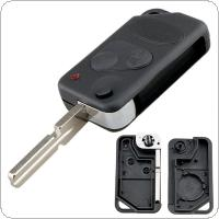 2 Buttons Remote Key Fob Shell Flip with P38 Blade Fit for Land Range Rover Discovery / Freelander / Defender 90 1995-2004