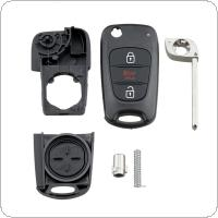3 Buttons Car Remote Key Shell with Uncut Blade Fit for Hyundai  I30 / IX35 / Kia K2 / K5