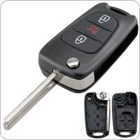 3 Buttons Car Remote Key Shell with Uncut Blade Fit for Hyundai Avante I30 / IX35 / Kia K2 / K5 / Sorento Sportage