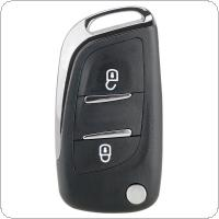 2 Buttons CE0523 Modified Flip Folding Key Shell with VA2 Blade Fit for Peugeot 306 / 407 / 807