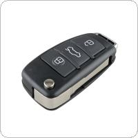 3 Buttons Folding Remote Flip Car Key Case Shell Fob Fit for Audi A6