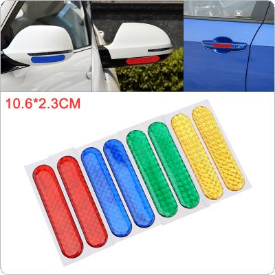1 Pair 4 Colors 10.6 x 2.3CM Warning Reflective Car Body Sticker Hood Window Bumper Anti Scratch Waterproof Decal