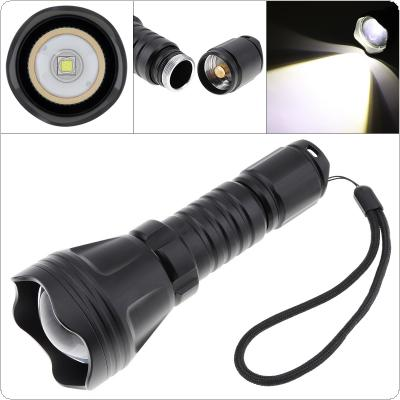 B158B Convex Lens Zoom Flashlight XM-L2 U4 LED Torch Hunting Light 900 Lumens Aluminum Tactical Flashlight