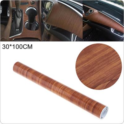 30 x 100cm PVC Glossy Wood Grain Automobile Interior Decoration Modification Sticker Fit for Car / Motorcycle / Electronic Product / Home