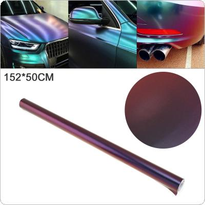 50 X 152cm PVC Glossy-side Blue / Purple Discolor Automobile Decoration Modification Sticker Fit for Car / Motorcycle / Electronic Product / Home