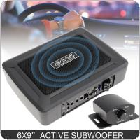 6 X 9 Inch 600W Slim Under Seat Powered Car Audio Active Subwoofer Bass Amplifier Speaker