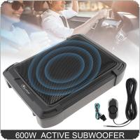 10 Inch 600W Slim Car Audio Active Car Subwoofer Under Seat Speaker Bass Stereo Speaker Low Distortion Amplifier