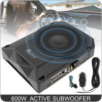 10 Inch 600W Slim Car Audio Active Subwoofer Car Under Seat Speaker Bass Stereo Speaker Audio Low Distortion Amplifier