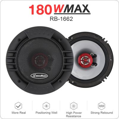 2pcs 6 Inch 180W Universal 2 Way Car Coaxial Speakers Audio Stereo Full Range Frequency HiFi Speaker Non-destructive