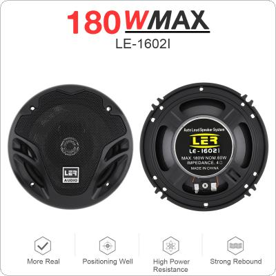 2pcs 6 Inch 180W Universal 2 Way Car Coaxial Speakers Audio Stereo Full Range Frequency HiFi for Car Audio System Modified