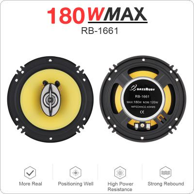 2pcs 6 Inch 180W Universal 2 Way Car Coaxial Speakers Audio Stereo Full Range Frequency HiFi Speaker for Car Audio System Modified