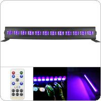 12 LED 36W Remote Control UV Violet Black Lights with Voice Control / Self-propelled / DMX 512 for Christmas Party / Bar / Wall Washer Spot Light Backlight