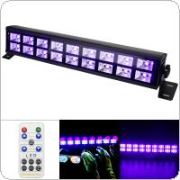 Double Row 18 LED 54W UV Violet Black Lights with Voice Control / Self-propelled / DMX 512 for Christmas Party / Bar / Wall Washer Spot Light Backlight
