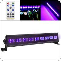 9 LED 27W Remote Control UV Violet Black Lights with Voice Control / Self-propelled / DMX 512 for Christmas Party / Bar / Wall Washer Spot Light Backlight