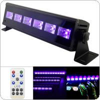 6 LED 18W Remote Control UV Violet Black Lights with Voice Control / Self-propelled / DMX 512 for Christmas Party / Bar / Wall Washer Spot Light Backlight
