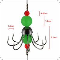 Luminous Octopus Squid String Fishing Hooks Group with Thicken Nylon Line