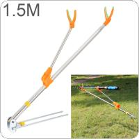 1.5m Fishing Rod Ground Inserted Stand Bracket Metal Stretch Pole Fishing Box Chair Holder
