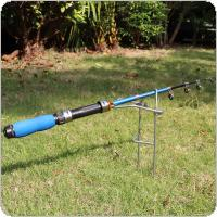 Metal Fishing Rod Ground Inserted Stand Bracket Simple Fishing Pole Holder