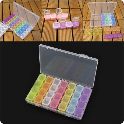 28 Grid PP Detachable Colorful Multipurpose Independent Display Storage Box Fit for Jewelry / Rings / Rhinestone / Nail Art / Tool Parts